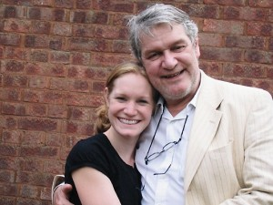 Dad and I in the summer of 2007 at my eldest daughter's naming day celebration